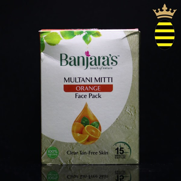 BANJARA'S 15 MINUTE FACE PACK POWDER MULTANI ORANGE 100G (20X5)