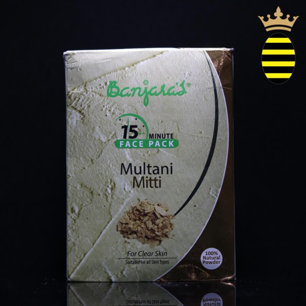 BANJARA'S 15 MINUTE FACE PACK POWDER MULTANI MITTI 100G (20X5)