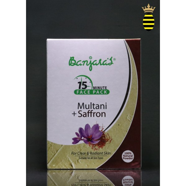 Banjara's 15 Minute Face Pack Powder Multani With Saffron 100g (20x5)