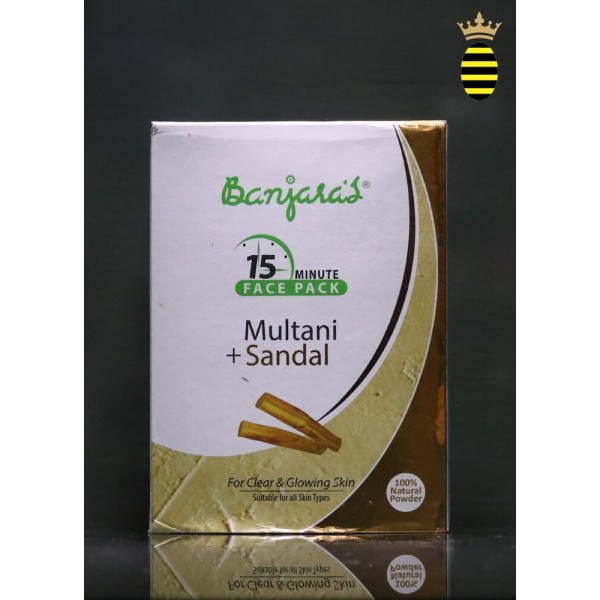 Banjara's 15 Minute Face Pack Powder Multani With Sandalwood 100g (20x5)
