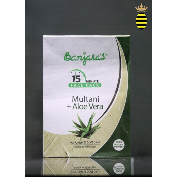 Banjara's 15 Minute Face Pack Powder Multani With Aloe Vera 100g (20x5)