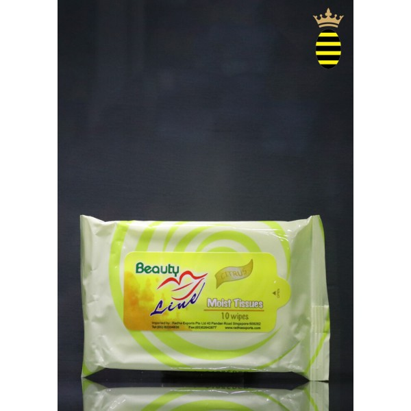 Beauty Line Moist Tissue (Citrus)