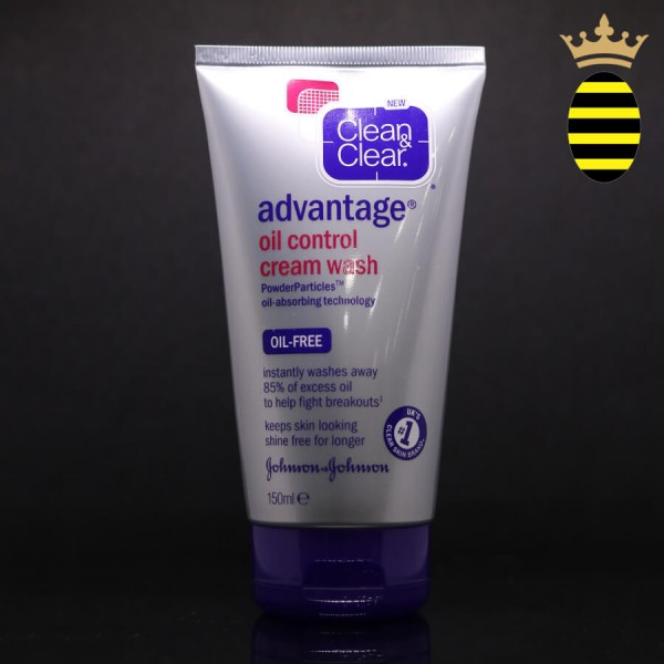 CLEAN & CLEAR ADVANTAGE OIL CONTROL CREAM WASH 150ML