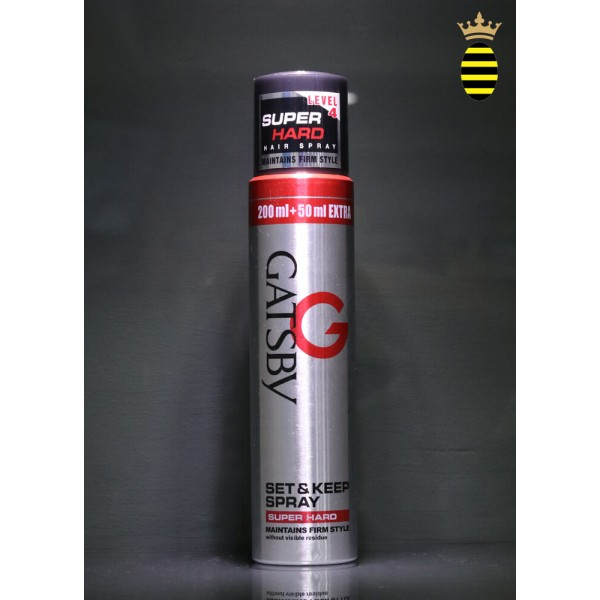 Gatsby Set & Keep Spray Super Hard Level 4 - 250ml