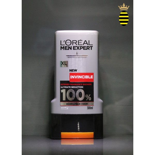 L'Oreal Men Expert Invincible Sport Shower Gel 300ml For Body, Face & Hair