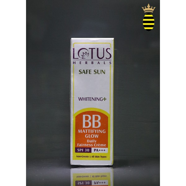 Lotus Herbal Safe Sun Whitening+ BB Mattifying Glow Fairness Creme SPF-30 40gm