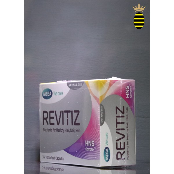 Mega Revitiz Nutrients for Healthy Hair, Nail and Skin 3x10 Capsules