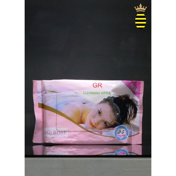 Omey Facials Gr Cleansing Wipes Gigi Rose (25 wipes) Pink