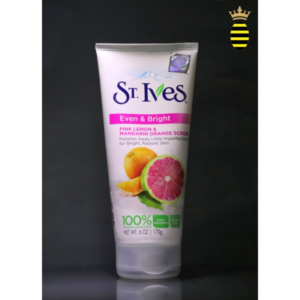 St. Ives Pink Lemon & Mandarin Orange Even & Bright Scrub 170g