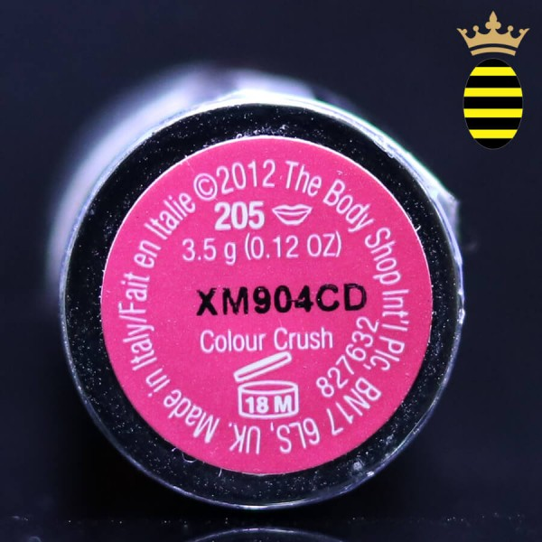THE BODY SHOP COLOUR CRUSH LIPSTICKS PASSIONATE PINK 205-3.5G
