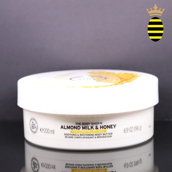 THE BODY SHOP ALMOND MILK AND HONEY SOOTHING AND RESTORING BODY BUTTER 200ML