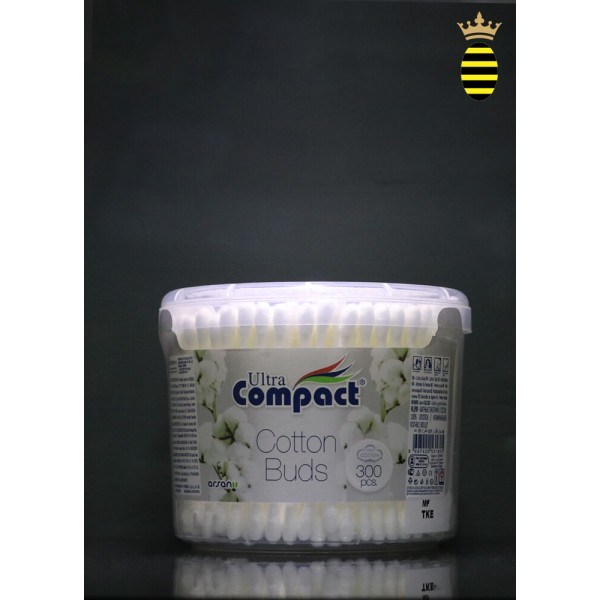 Ultra Compact Cotton Buds (300pcs)