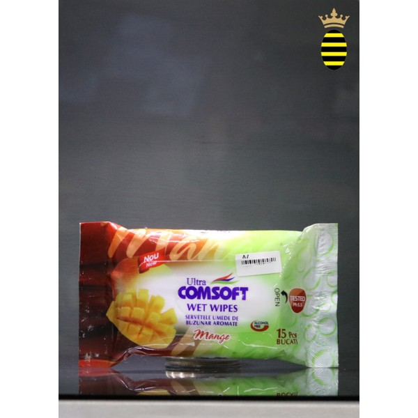 Ultra Comsoft Wet Wipes Mango (15 wipes)