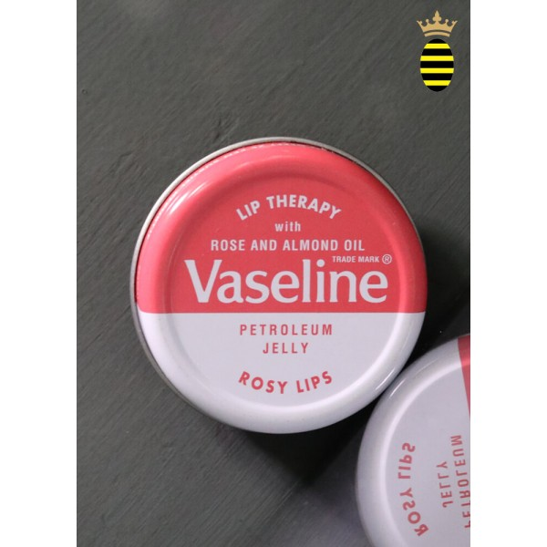 Vaseline Lip Therapy Lip Balm Tin Rose and Almond 20g