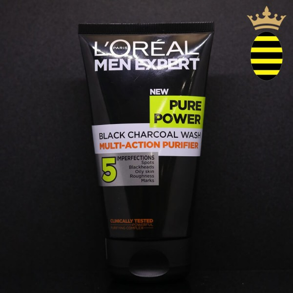 L'OREAL BLACK CHARCOAL FACE WASH 150ML